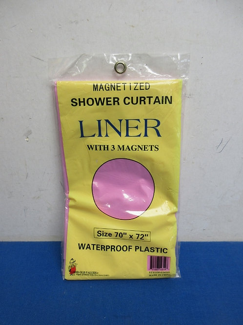 Pink shower  curtain liner, New in pkg