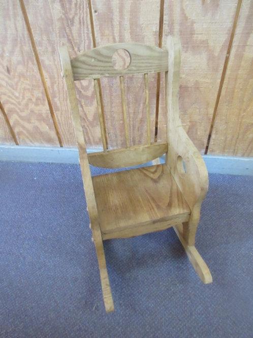 Amish handmade light oak children's rocker with spindle back