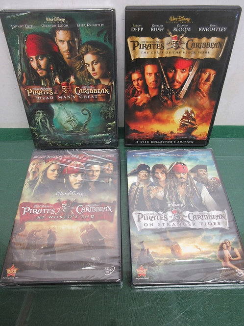 Set of 4 Pirates of the Caribbean Adventures, 3 are still Sealed