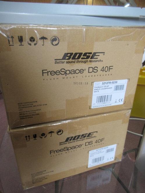Pair of Bose free space dx 40F ceiling speakers w/metal drop in brackets, All Ne