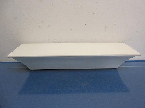 White wood floating wall shelf