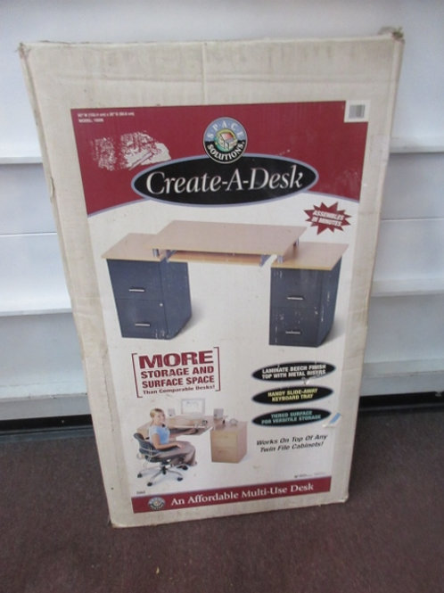 Create-a-desk - board to lay over 2 file cabinets to convert to desk