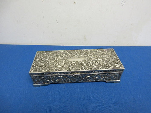 """Silver plated rectangular jewely box 9x4"""""""