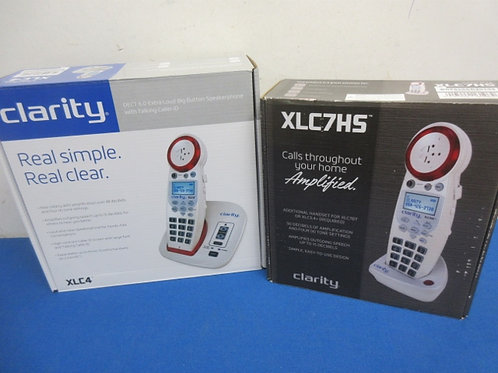 Clarity real simple, real clear cordless button speaker phone, w/extra handset,