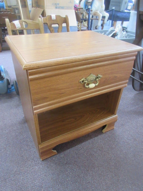 """Light tone night stand with bottom shelf and drawer,15x21x21""""high"""