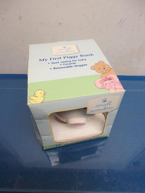 "Pink & white little girl ""My First Piggy Bank"", New"