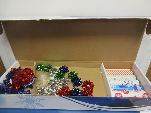 Large assortment Christmas wrapping paper and bows - new in box