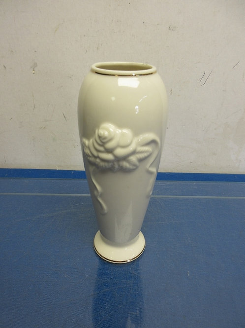 "Lenox bud vase with dimensional rose on side 7.5""high"