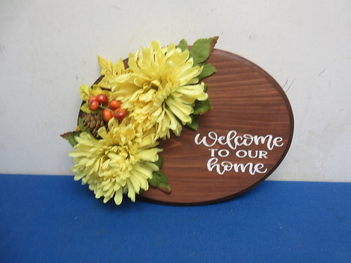 Oval wall hanging welcome to ourhome