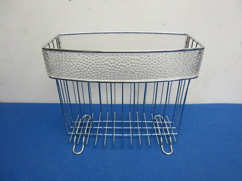 Tabletop small chrome towel holder