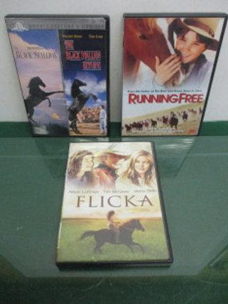 Set of 4 horse movies - Black Stallion, Flicka, Running Free