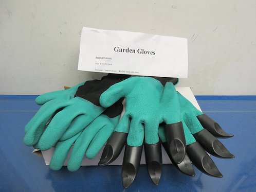 Specialty gardening digging gloves and also a regular pair