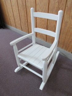 Outstanding Child Size White Wooden Rocking Chair Lamtechconsult Wood Chair Design Ideas Lamtechconsultcom
