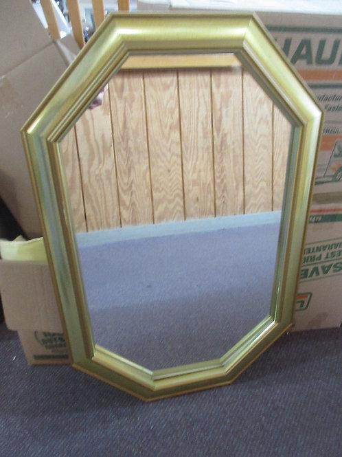 "Gold framed octagon shaped mirror 20x30"""