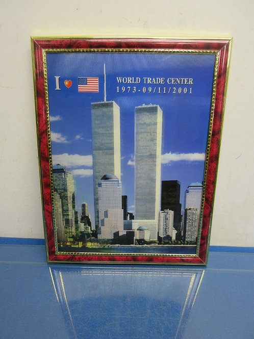 Framed picture of world trade center, Twin Towers - 10x13