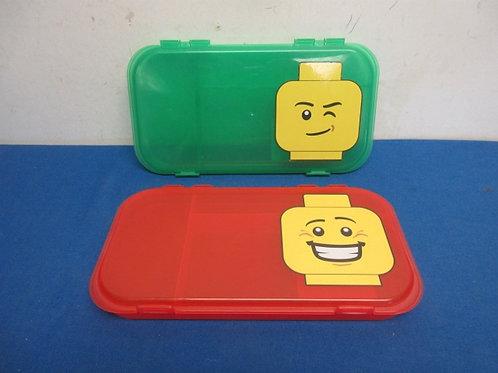 Pair of Lego figure organizer boxes