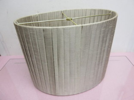 Oval pleated taupe lamp shade