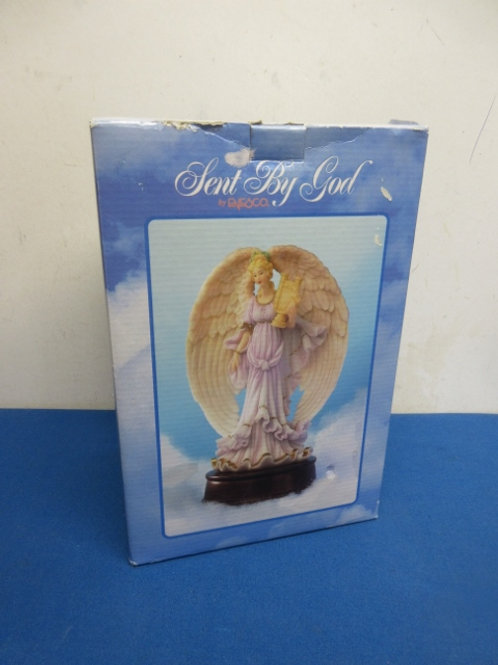 "Enesco sent by god musical angel statue - 10"" - brand new"