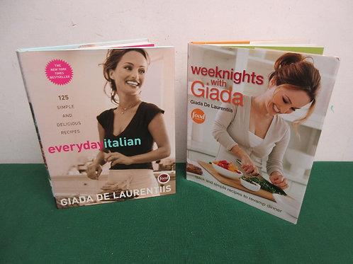 Pair of Giada De Laurentis cookbooks, everyday Italian, weeknights w/Giada