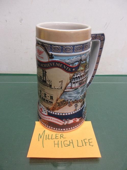 "Miller high life brewery stein, 7"" high"
