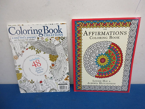 Pair of adult coloring books - brand new