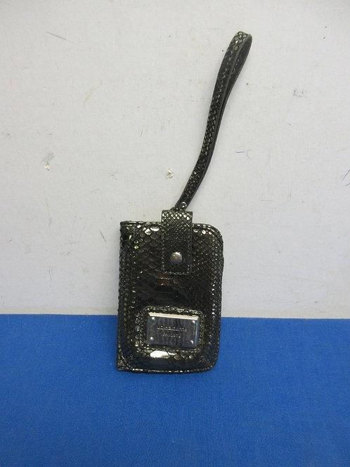 Liz Claiborne gold and black wallet with wrist strap