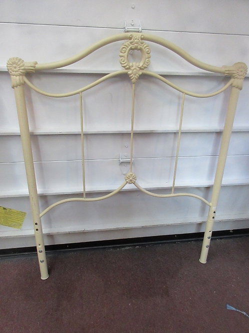 Ivory metal twin headboard with metal frame (no slats included)