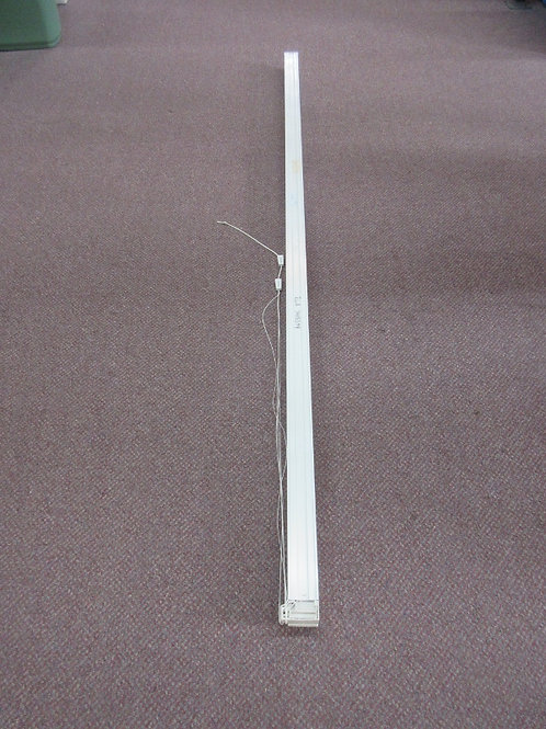 """White 72"""" blind with pull string"""
