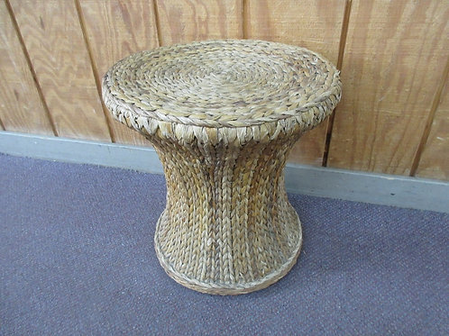"Wicker pedestal stool 15x16"" high"