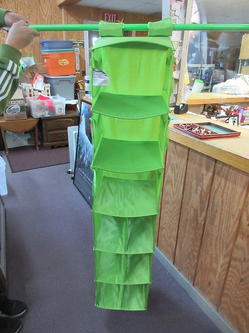 Lime Green hanging closet organizer - 9 compartments
