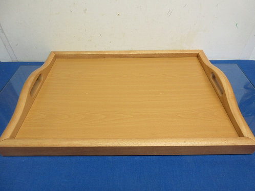 """Natural wood serving tray with built in handles, 14.5 x 20"""""""