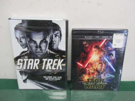 Two new dvds, star wars the force awakens on blu-ray, and star trek both sealed