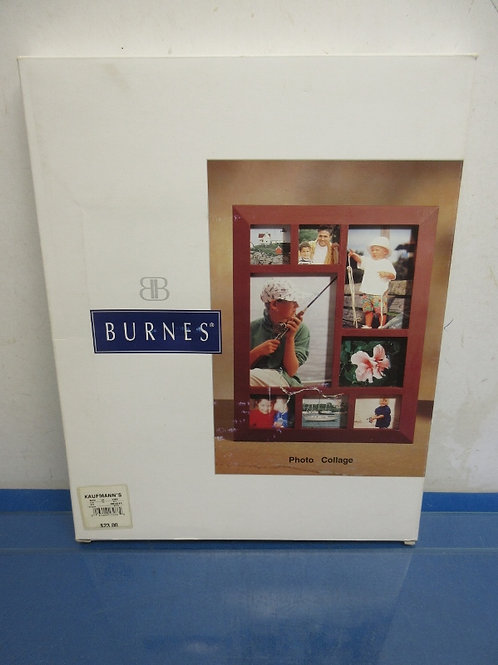 Burnes photo collage frame with 8 photo slots