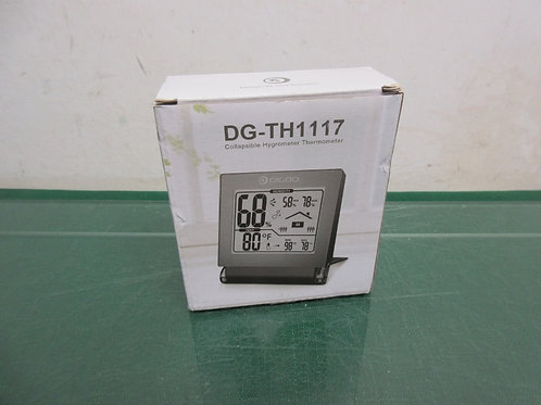 Collapsable hygrometer thermometer registers humidiy and temp - new in box