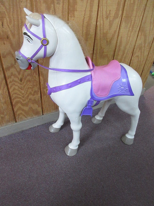 Sit on Horse w/pink & purple saddle, makes noises, Lost Tail in accident, saddle