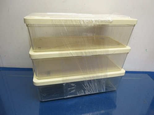 Set of 3 clear plastic shoe containers