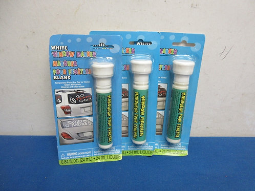 set of 3 white window markers, new in pkg