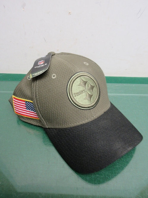 Pittsburgh Steelers salute to service collection army green hat - large/xlarge -