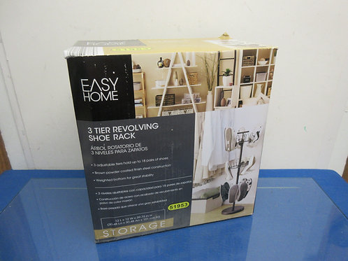 Easy Home 3 tier revolving shoe rack, new in box, needs assembled, 2 available