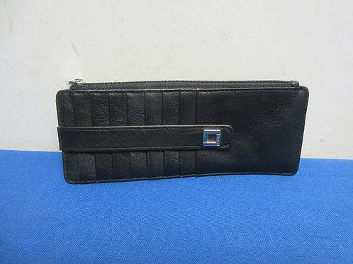 Lotis RFID protected credit card holder - slim - black italian leather