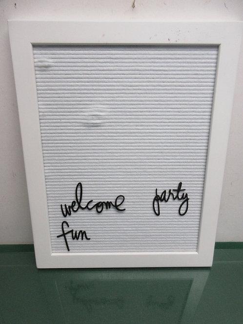 """White framed letter board, 16x20"""""""