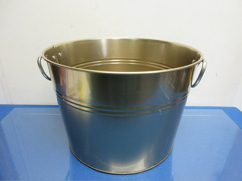 Gold metal bucket with double handles