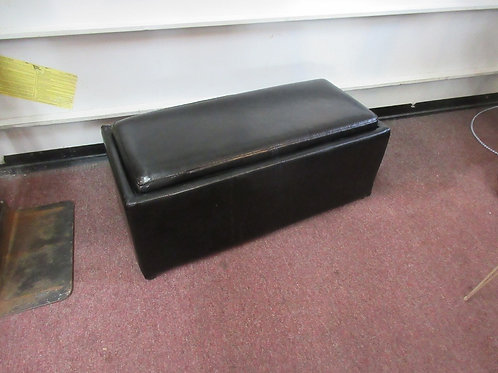Bed bath & beyond Composite leather storage ottoman, lid flips to tray - 18x35x1