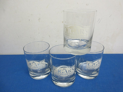 Set of 4 cigar international old fashion glasses