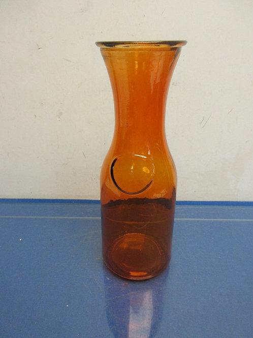 Orange glass liter wine carafe/vase