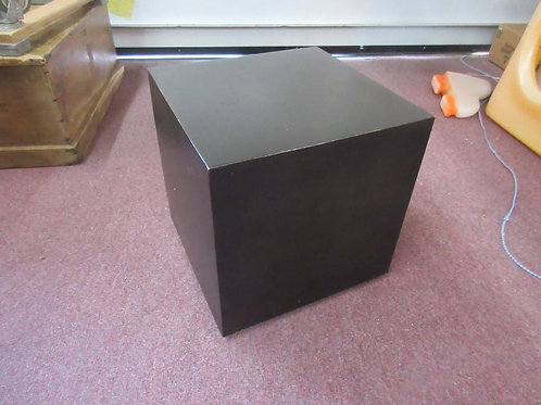 Brown metal modern style cube shaped end table