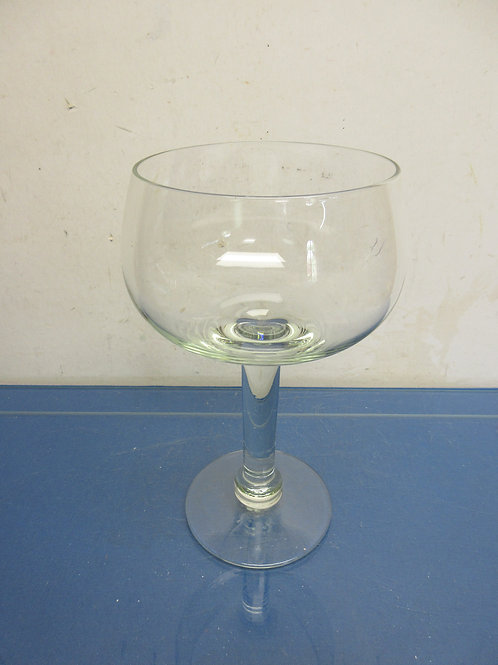 Tall glass large decorative wine glass shaped candle holder