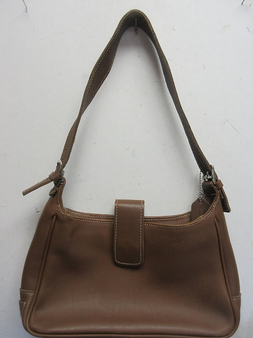 Coach brown leather shoulder bag/purse with single handle