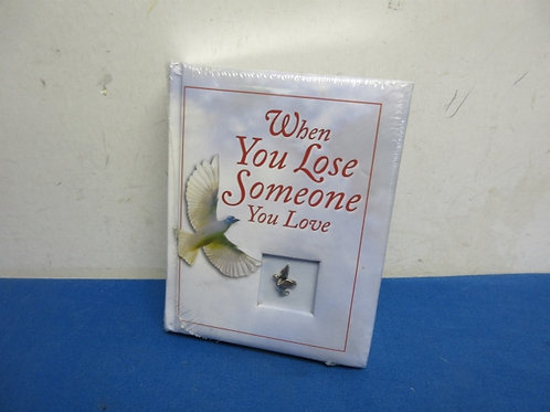 When you lose someone you love, journal, new sealed