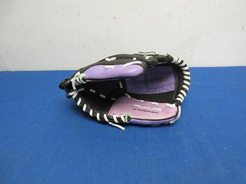"""Wilson black & purple child size 10"""" left handed fielding"""